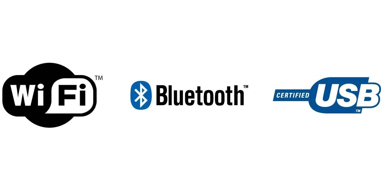 Bluetooth, USB and Wi-Fi